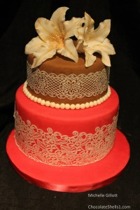 Lace & Tigar Lilly cake