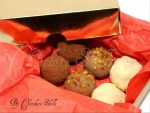 Gold Box 6 Truffle Selection £3.40 Plus P&P Hand made Artisan Truffles (White Chocolate strawberry & Champagne with Crispy Strawberries, Lavender & Dark Chocolate, Milk Chocolate & Dulce de Leche) 0% Alcohol.