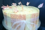Sponge & White Chocolate Butterfly cake
