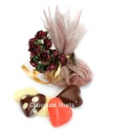 Hand made Solid chocolate hearts Can be Flavoured with Essential oils