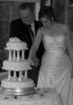 Traditional 3 Tier  Wedding cake with Pillars
