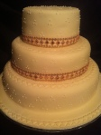"Vanilla Wedding cake 12"" 10"" & 8"""