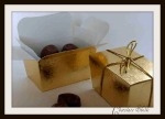 Gold Balontine box £1 each can be filled with Truffles or Fudge