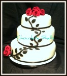 Black & White Themed Wedding cake