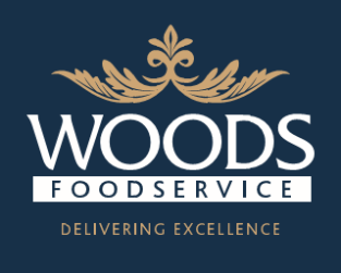 LOGO BLUE woods foodservice